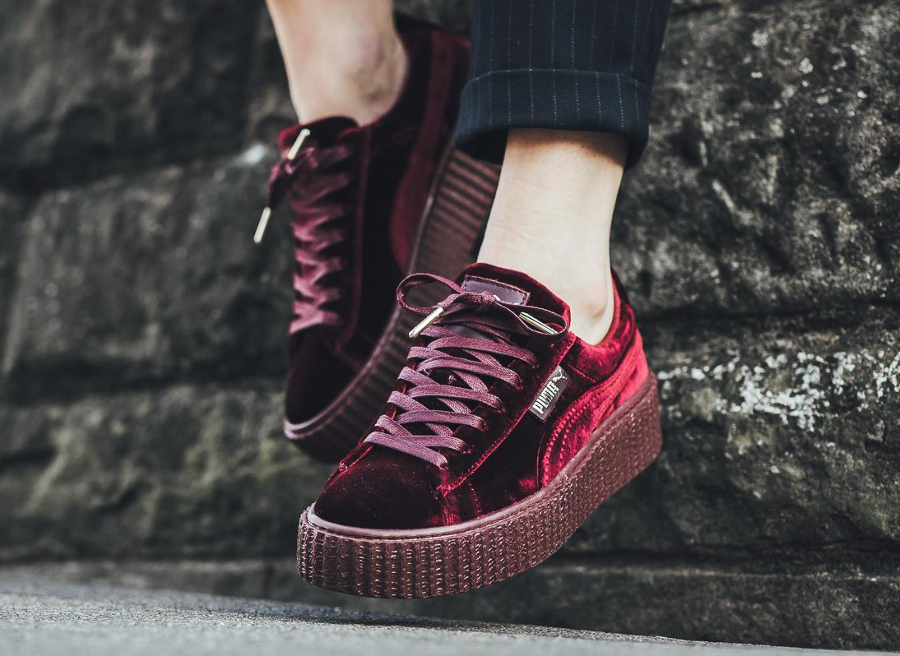 Puma Creepers Rihanna Velours Bordeaux