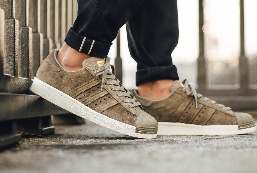 Adidas Superstar 80's Suede Grise 'Trace Cargo Gold' (homme)