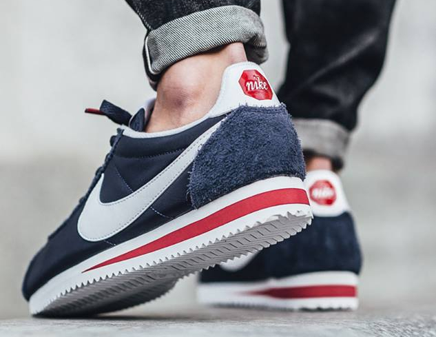 Nike Cortez Nylon Premium 'Stop Sign' Midnight Navy