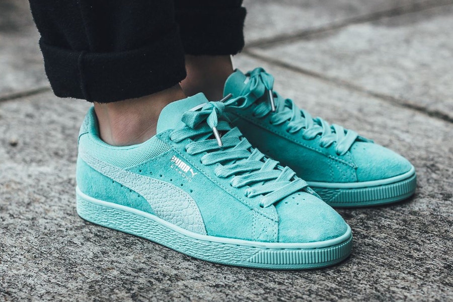 Puma Suede Classic Croc Diamond Supply 'Turquoise' Aruba Blue