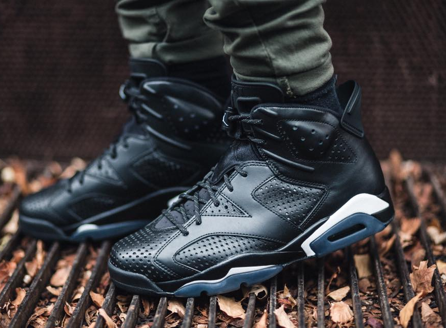 Nike Air Jordan 6 VI Retro Premium 'Triple Black Cat'