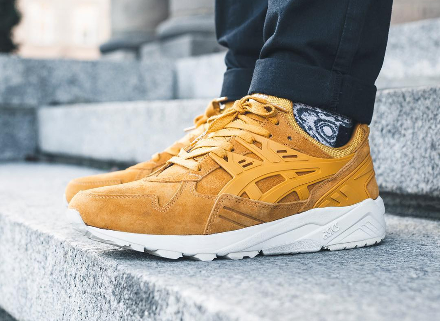 Asics Gel Kayano Trainer Suede 'Wheat' Golden Yellow