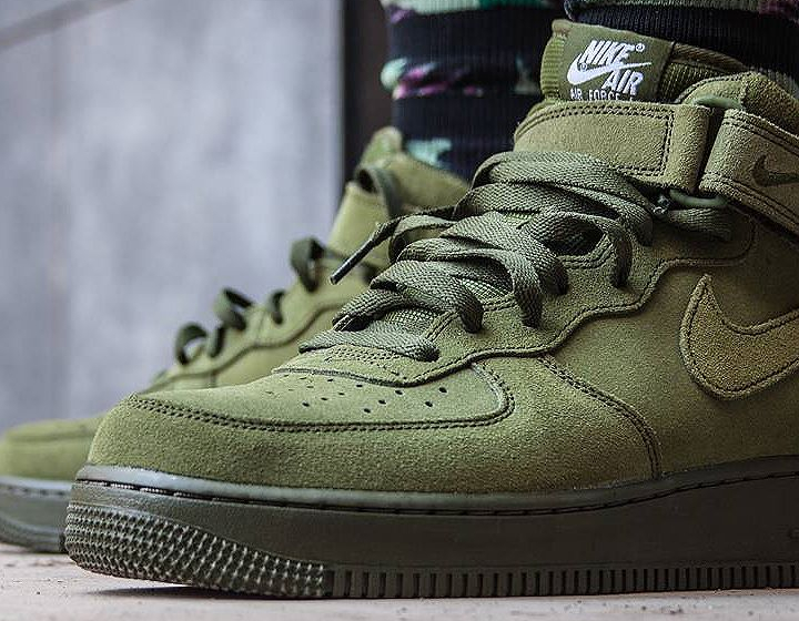 Nike Air Force 1 Mid 07 Suede Legion Green (daim vert)