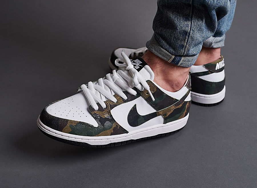 Nike Dunk Low Pro SB QS Camo Legion Green (homme & femme)