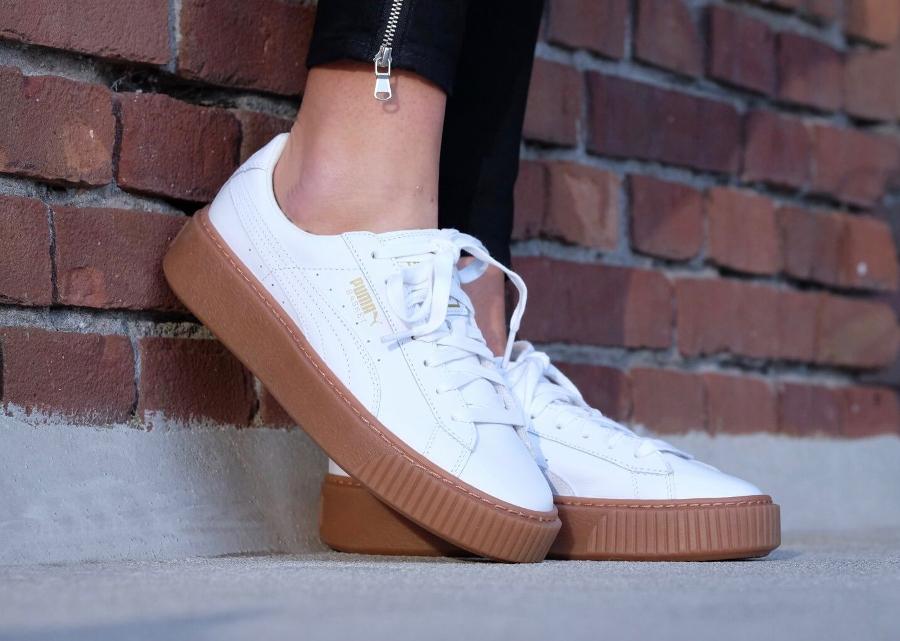 Puma Creepers Basket Platform 'White Gum' (femme)