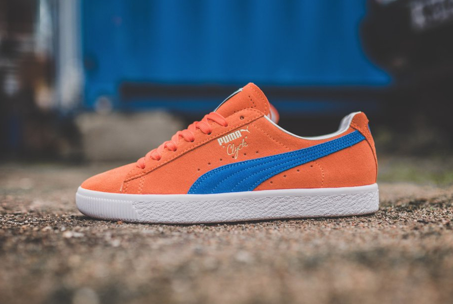 Puma Clyde Frazier NYC '10' Orange Blue Suede