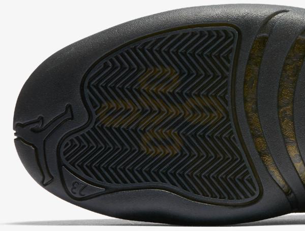 Basket Air Jordan 12 Retro OVO Black Metallic Gold (3)