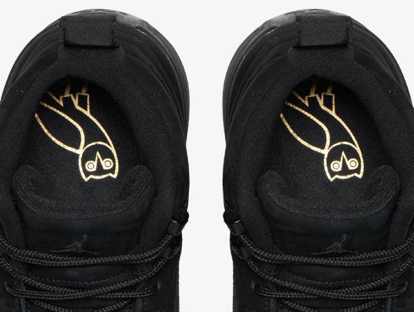 Basket Air Jordan 12 Retro OVO Black Metallic Gold (4)