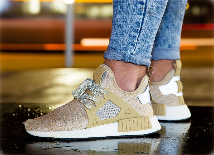 Adidas NMD XR1 Primeknit PK 'Linen' (beige) homme & femme