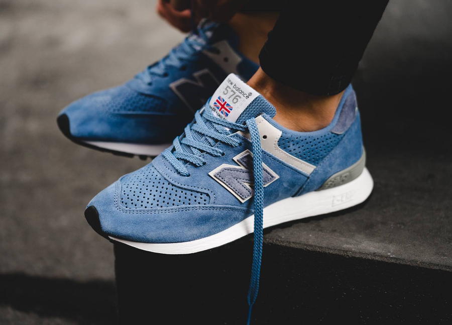 New Balance W 576 BB Suede 'Blue' (made in England)