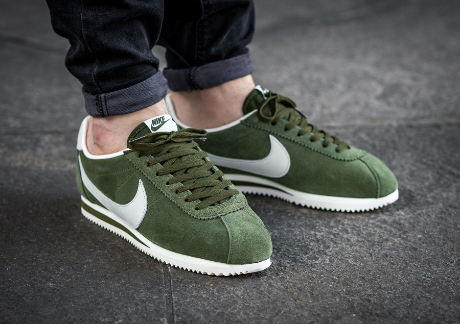 Nike Cortez Leather SE 'Legion Green' (daim vert) homme