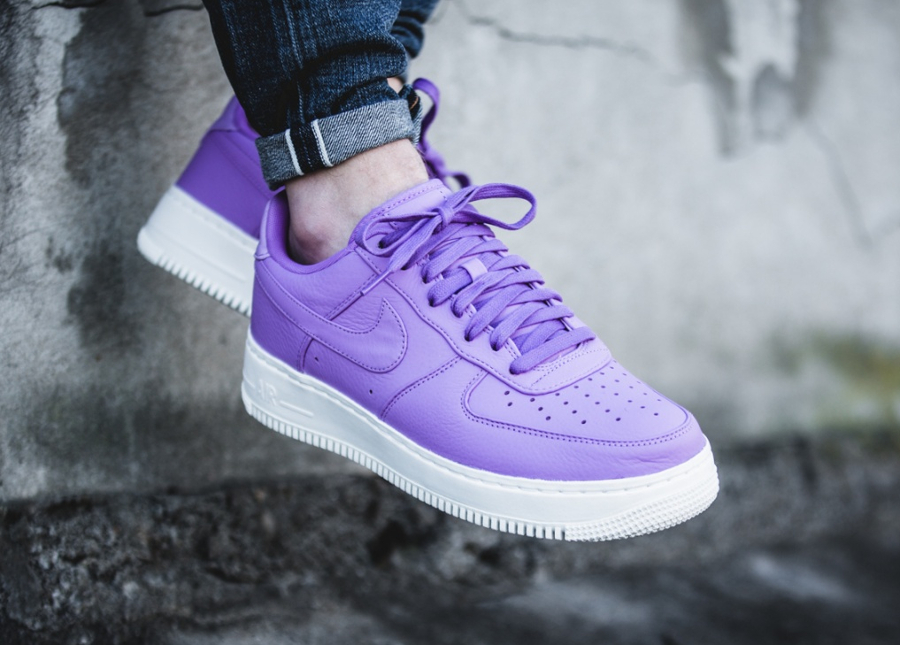 NikeLab Air Force 1 Low 'Purple Stardust' (cuir violet)