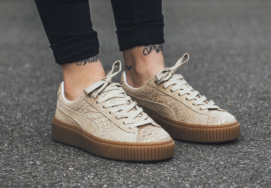 Axelremsväska Nelly : White platform sneakers nelly