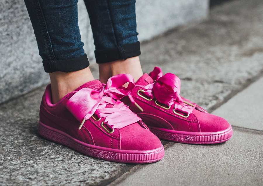 Puma Suede Heart Satin W Rose 'Ultra Magenta' (gros lacets)