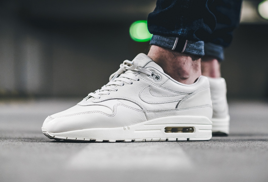 NikeLab Air Max 1 Pinnacle Sail cuir premium blanc cassé (1)