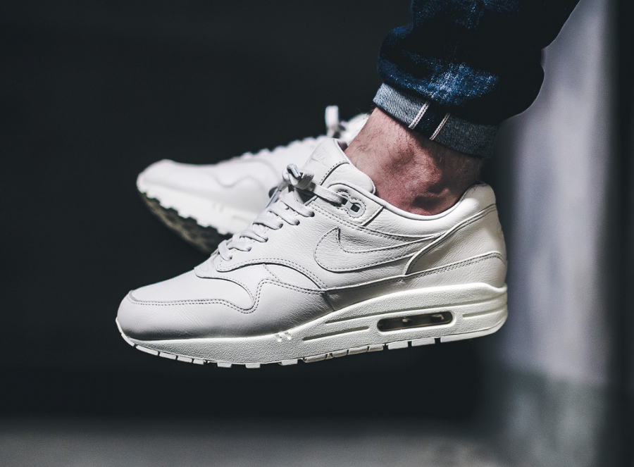 NikeLab Air Max 1 Pinnacle Sail cuir premium blanc cassé (2)