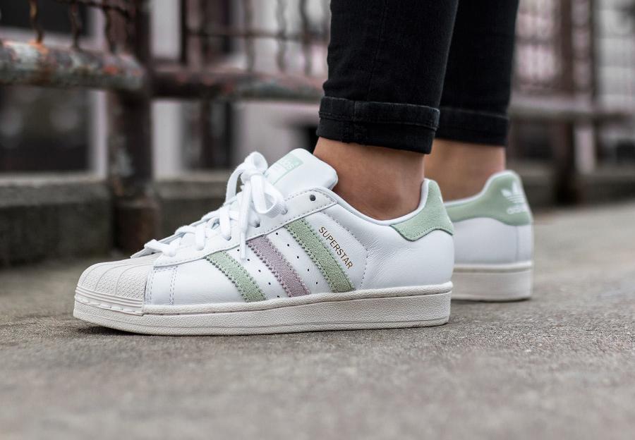 Basket Adidas Superstar W Vintage Linen Green (1)