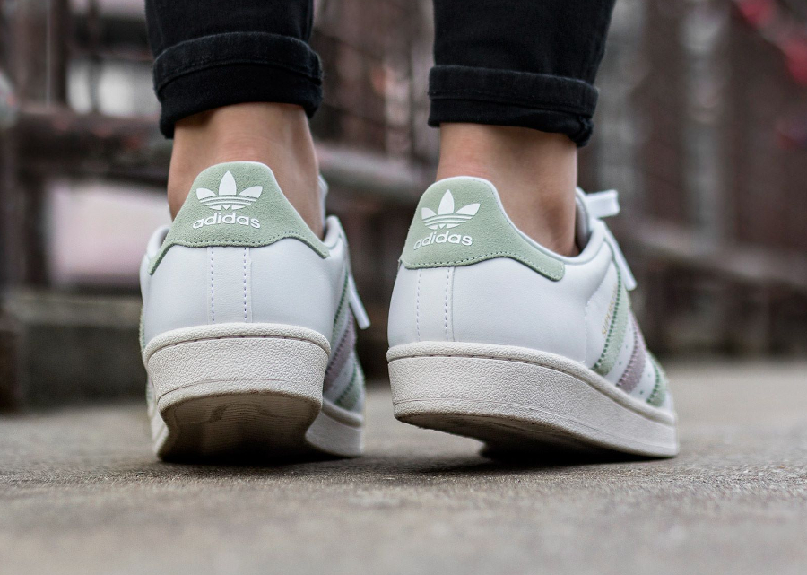 Basket Adidas Superstar W Vintage Linen Green (2)