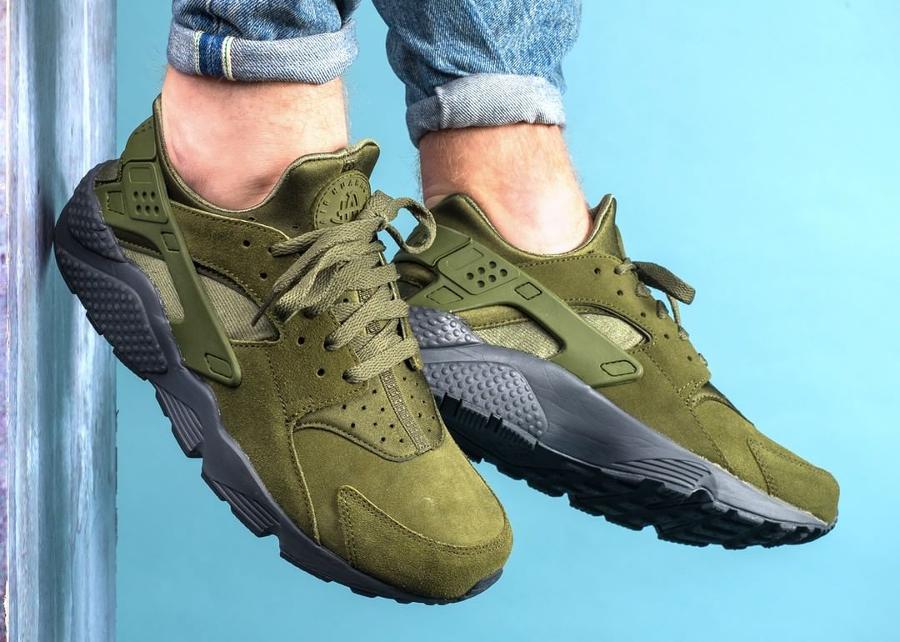Nike Air Huarache Run SE 'Legion Green' Suede (daim vert)