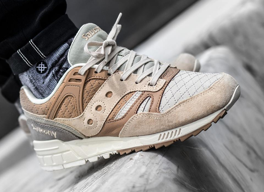Saucony Grid SD Quilted 'Heritage' Tan Grey