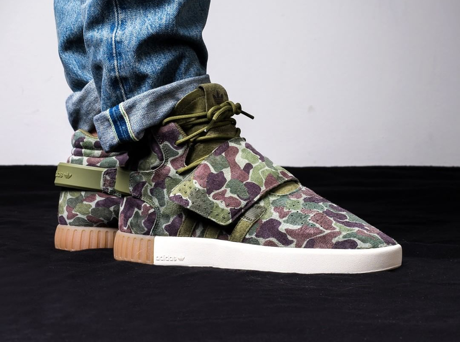 Adidas Tubular Invader Strap 'Duck Camo Olive'