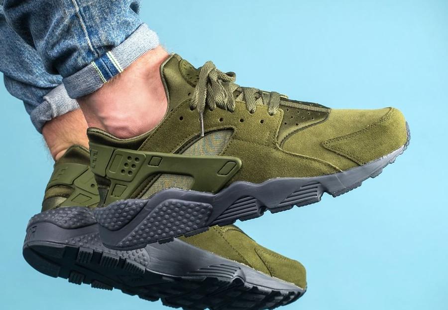 Chaussure Nike Air Huarache Run SE Legion Green Suede (daim vert)