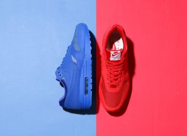 Nike Air Max 1 PRM Tonal Suede Rouge & Bleue