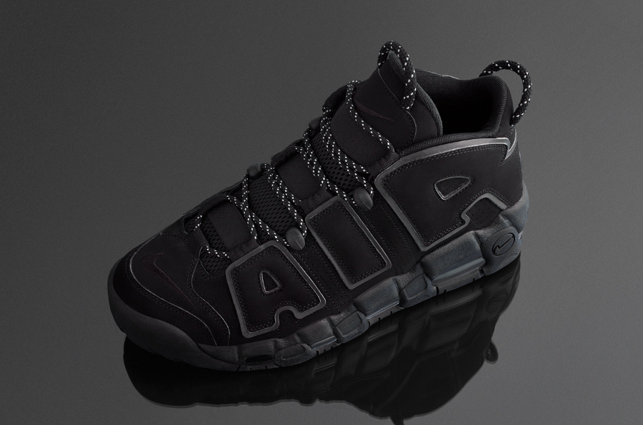 Chaussure Nike Air More Uptempo Noire Triple Black 3M (homme)