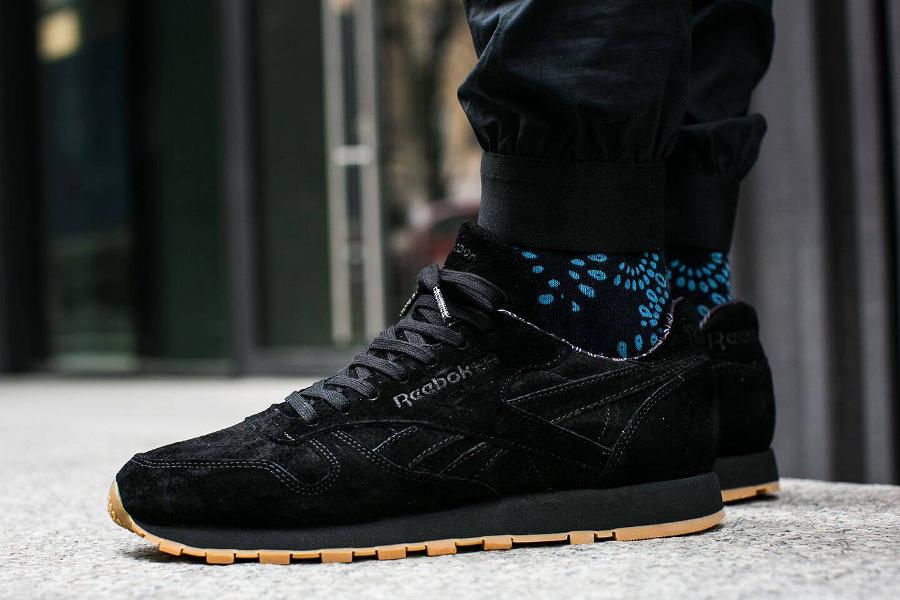 Chaussure Reebok Classic CL Leather Paisley noir (1)