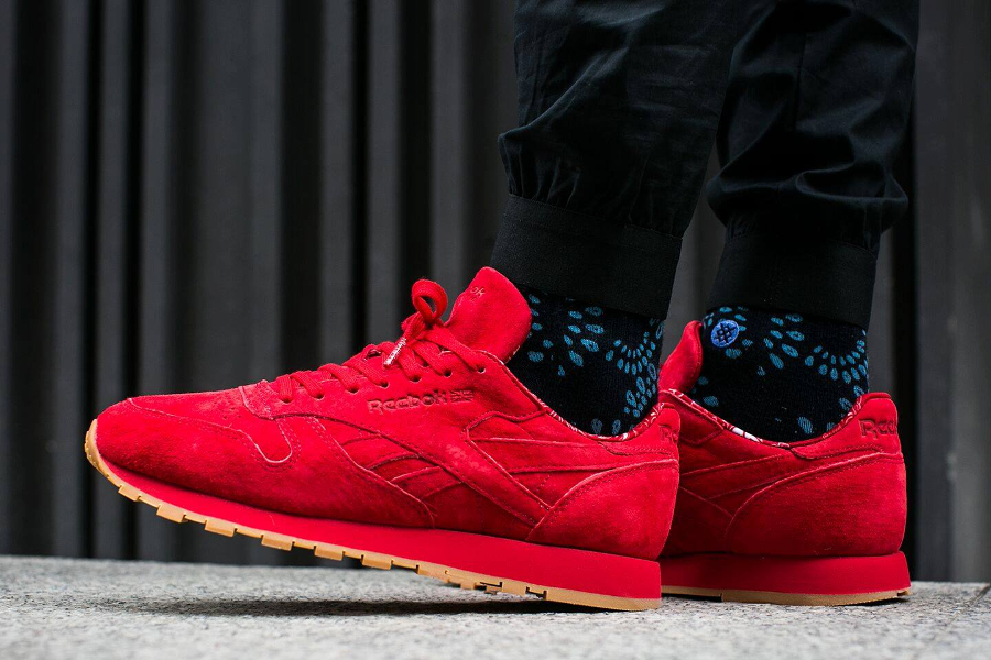 Chaussure Reebok Classic CL Leather Rouge Paisley Gum Pack (0)