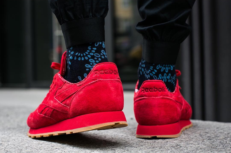 Chaussure Reebok Classic CL Leather Rouge Paisley Gum Pack (3)