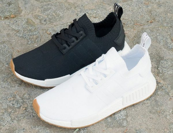 Adidas NMD R1 Primeknit 'Gum' White & Black