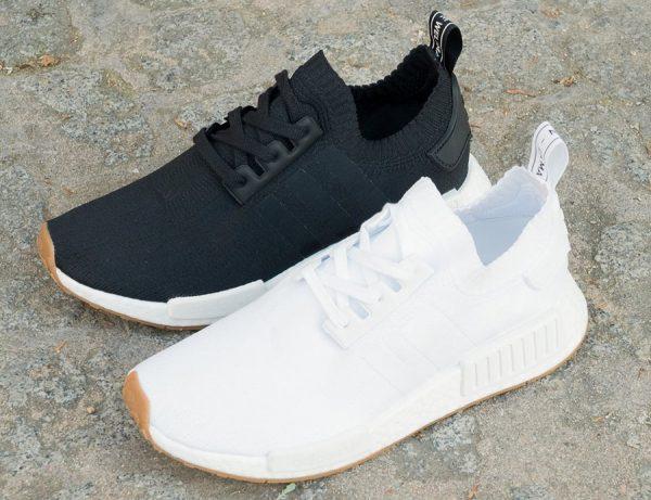 Basket Adidas NMD R1 Primeknit Gum White & Black