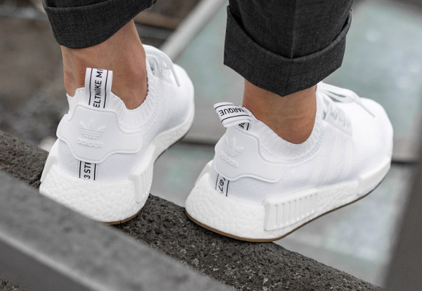 Chaussure Adidas NMD R1 Primeknit Gum White (3)