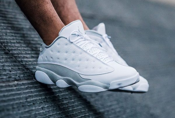 Chaussure Air Jordan 13 XIII Retro Low Pure Platinum (blanche) (1)