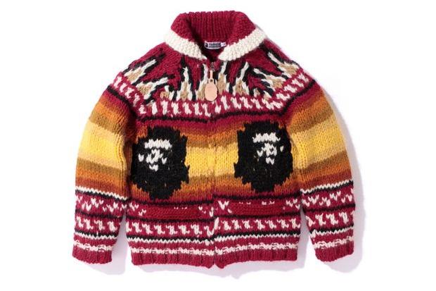 Pull Bape en laine (avec une tête de gorille)