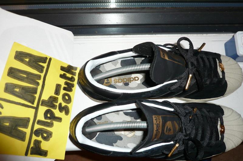 Adidas Ape Superstar Black