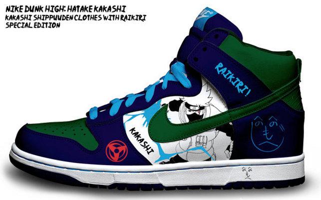 Customisation de sneakers – Nike Dunk Low et High, Air Max 1 Naruto, Sasuke, Jiraiya et d'autres persos..