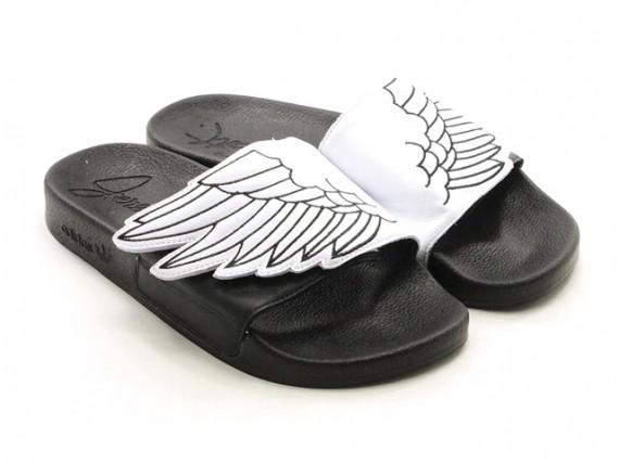 Coup de griffe – Jeremy Scott nous balance des sandales avec des ailes avec la JS Wings Adilette !