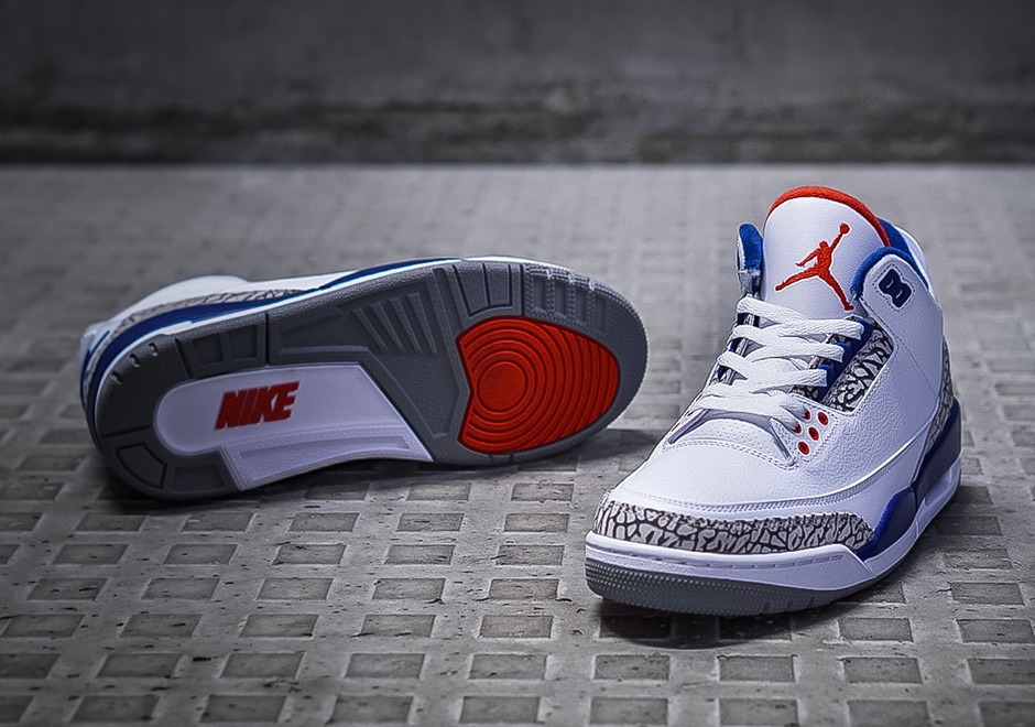 Air Jordan 3 Retro OG True Blue Cement 'Nike Air' (2016) (2)