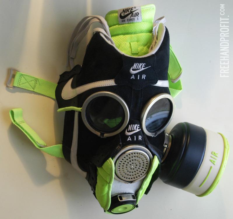 objets insolites masques gaz adidas def jam nike air. Black Bedroom Furniture Sets. Home Design Ideas