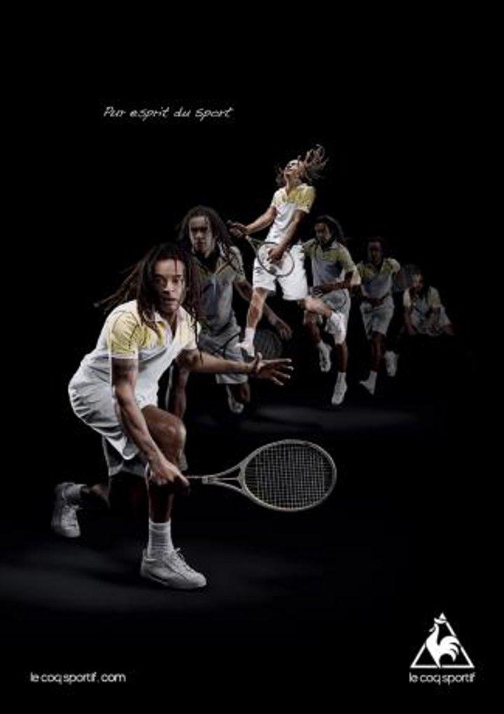 Publicité Le Coq Sportif Yannick Noah