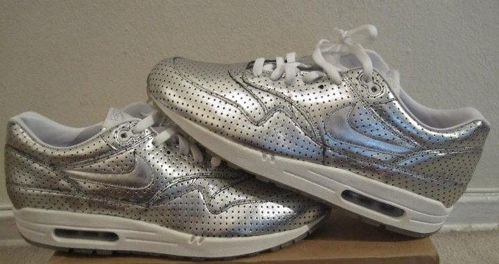 Nike Air Max 1 Silver Perforated Medals Olympic