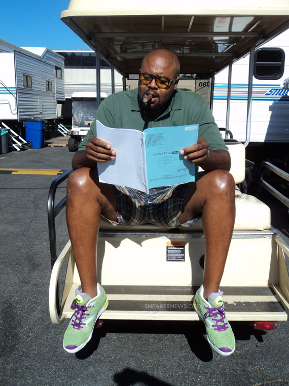 Chi Mcbride en Reebok Pump Court Victory x Packer Shoes