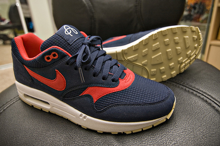 Nike Air Max 1 Omega Obsidian / Sport Red Gold White – Fiche Air Max 1