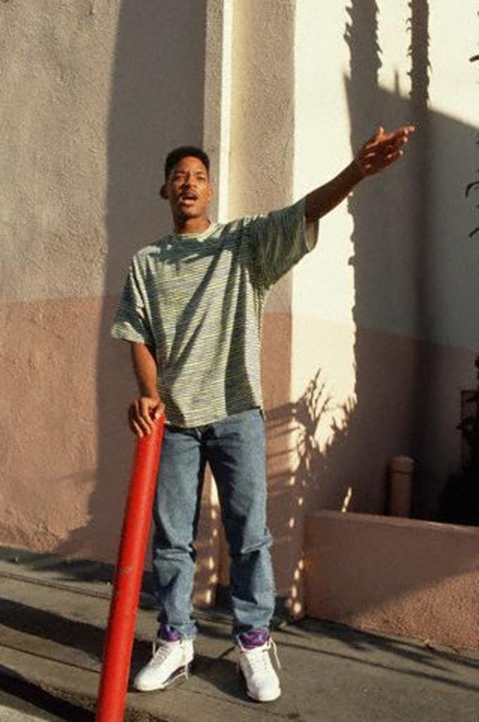 Will Smith en Air Jordan 5 Purple Grape