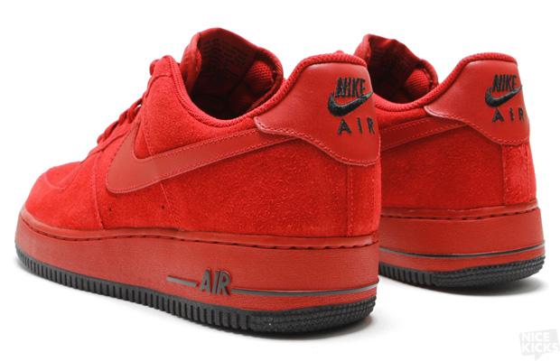 Nike Air Force 1 07 Varsity Red Black Suede