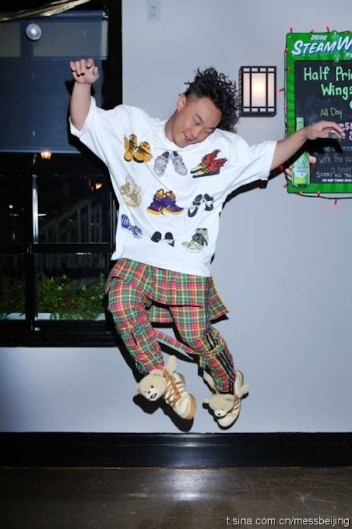 Eason Chan en Adidas Originals Teddy Bears