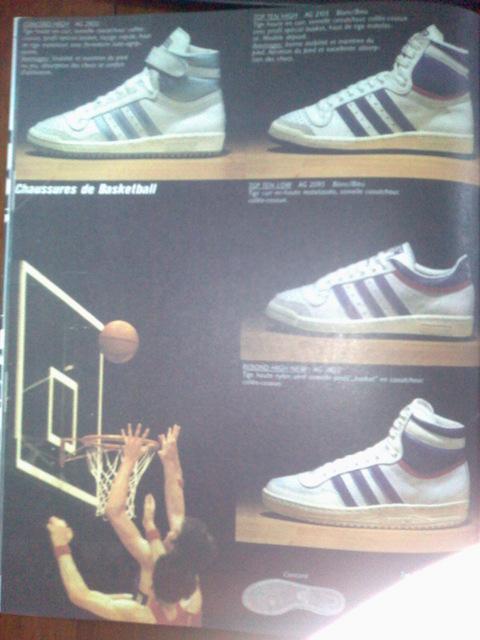 Adidas le catalogue de 1984 : Adidas Tampico, Zebra, Gym