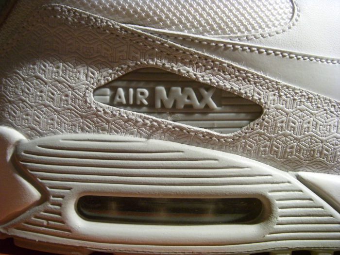 Nike Air Max 90 Powerwall 3 Decades Of Cushioning All White